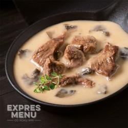 Expres Menu Hovězí Stroganoff 600 g 2 porce sterilované jídlo na cesty (bez přílohy)