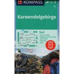 Kompass 26 Karwendelgebirge 1:50 000 turistická mapa