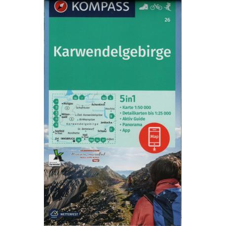 Kompass 26 Karwendelgebirge 1:50 000