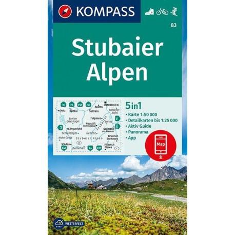 Kompass 83 Stubaier Alpen 1:50 000