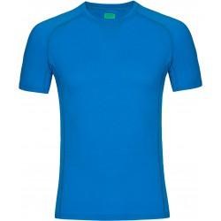Zajo Bjorn Merino T-shirt SS blue jewel pánské triko krátký rukáv Merino vlna