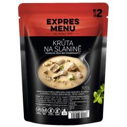 Expres Menu Krůta na slanině 600 g 2 porce sterilované jídlo na cesty (bez přílohy)