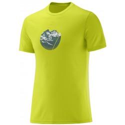 Salomon X Alp Graphic SS Tee M lime punch 393720 pánské triko krátký rukáv
