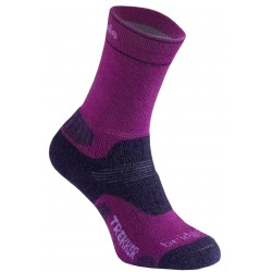 Bridgedale WoolFusion Trekker Women's berry/plum dámské trekové ponožky Merino vlna