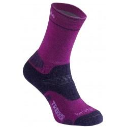 Bridgedale WoolFusion Trekker Women´s berry/plum dámské trekové ponožky Merino vlna