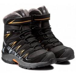 Salomon XA Pro 3D Winter TS CSWP J black/marigold 398457 dětské zimní nepromokavé boty