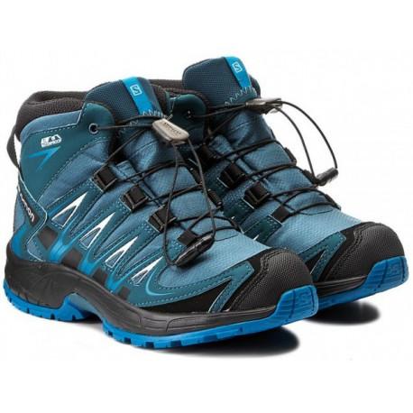 4ac736d0cb0 Salomon XA Pro 3D Mid CSWP J mallard blue r. pond 398528 dětské nepromokavé