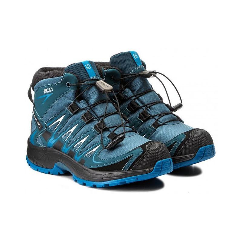 Salomon XA Pro 3D Mid CSWP J mallard blue r. pond 398528 dětské nepromokavé  ... 65bd51e0ed