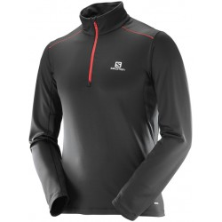 Salomon Agile Warm HZ Mid M black/red 397142 pánské triko dlouhý rukáv