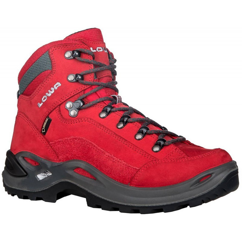 ... Lowa Renegade GTX Mid W red dámské nepromokavé kožené trekové boty 1 ... d6c212c715