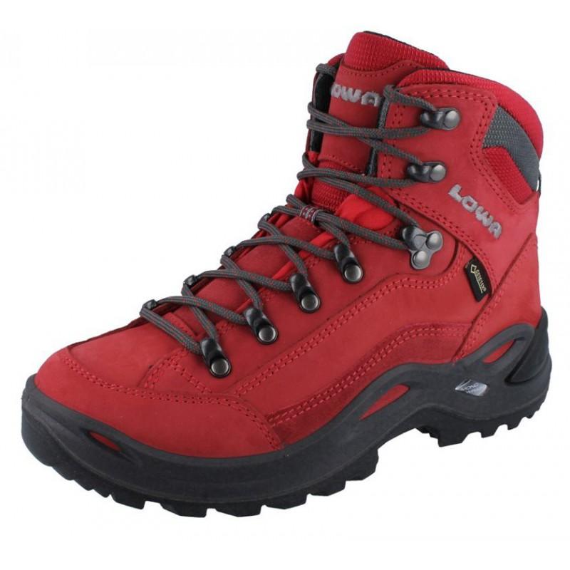 c644ad2a7a7 ... Lowa Renegade GTX Mid W red dámské nepromokavé kožené trekové boty 2 ...