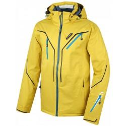 Husky Walmon žlutá pánská nepromokavá zimní lyžařská bunda HuskyTech 20000