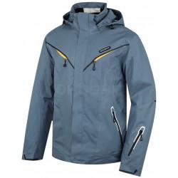 Husky Wender tmavě šedá pánská nepromokavá zimní lyžařská bunda HuskyTech 20000