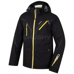 Husky Walmon černá pánská nepromokavá zimní lyžařská bunda HuskyTech 20000