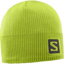Salomon Logo Beanie acid lime 394963 unisex pletená čepice