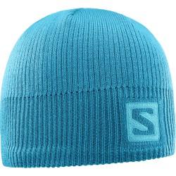 Salomon Logo Beanie enamel blue 394967 unisex pletená čepice
