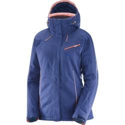 Salomon Fantasy Jacket W medieval blue 396921 dámská nepromokavá zimní lyžařská bunda