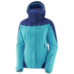 Salomon Icerocket Jacket W blue bird/m.blue 397198 dámská nepromokavá zimní lyžařská bunda