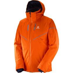 Salomon Stormrace Jacket M vivid orange 397360 pánská nepromokavá zimní lyžařská bunda (1)