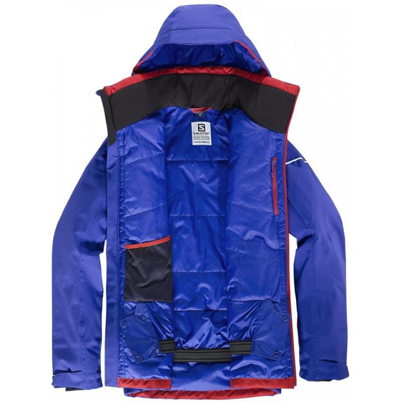 ... Salomon Stormrace Jacket M vivid orange 397360 pánská nepromokavá zimní  lyžařská bunda (5) ... 92d03549826