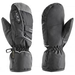 Leki Dots Junior Mitten GTX black/grey dětské lyžařské palcové rukavice