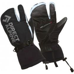 Direct Alpine Wallis 1.0 black unisex lyžařské tříprstové rukavice