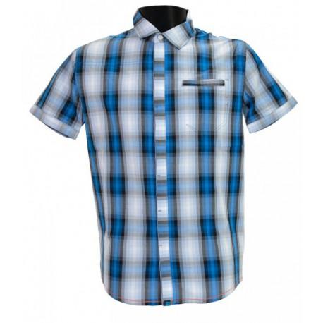Husky Greim modrá pánská košile krátký rukáv (1)