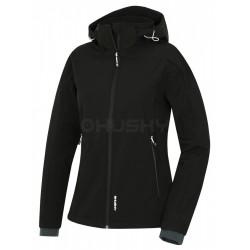 Husky Salen L černá dámská softshellová bunda Extend Therm Softshell Stretch 10000 1