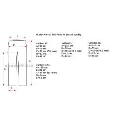 Husky Merino 100 Pants M černá pánské spodky dlouhá nohavice Merino vlna