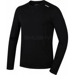 Husky Merino 100 Long Sleeve M černá pánské triko dlouhý rukáv Merino vlna