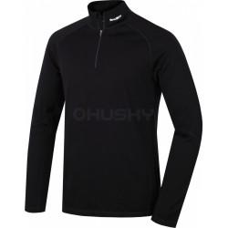 Husky Merino 100 Long Sleeve Zip M černá pánské triko dlouhý rukáv Merino vlna