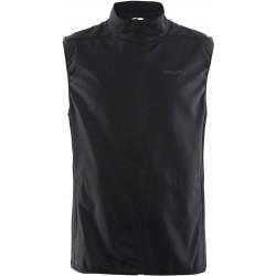 Craft Warm Vest M black/platin 1905376-999920 pánská větruodolná softshellová vesta