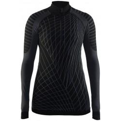 Craft Active Intensity Zip W black/granite 1905334-999985 dámské triko dlouhý rukáv (1)