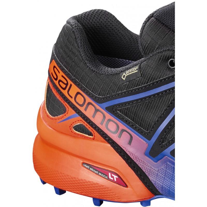 406ad120a56 ... Salomon Speedcross 4 GTX LTD black scarlet ibis 401774 pánské  nepromokavé běžecké boty (2 ...
