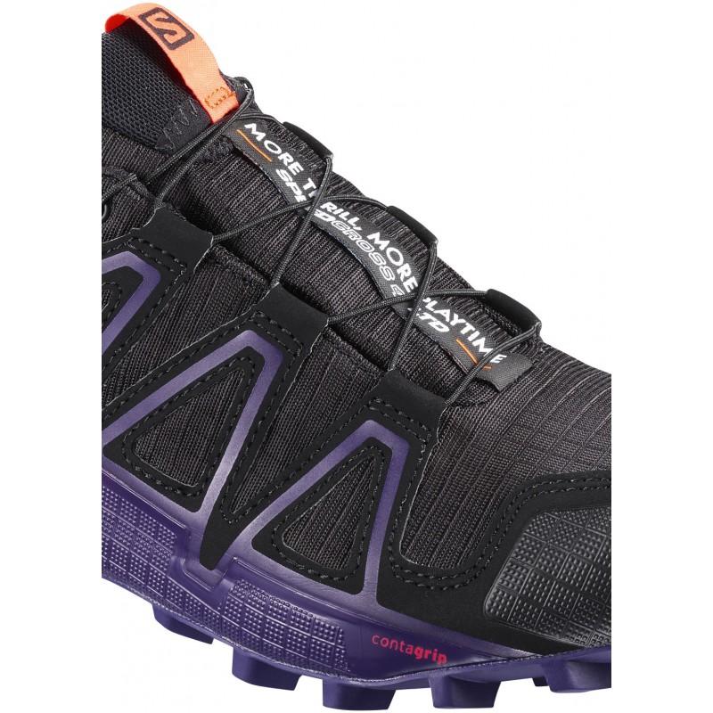 0310d6c5095 ... Salomon Speedcross 4 GTX LTD W black nasturtium 401780 dámské  nepromokavé běžecké boty (2 ...
