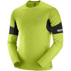 Salomon Agile LS Tee M lime green 392603 pánské triko dlouhý rukáv