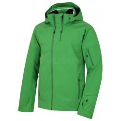 Husky Menau zelená pánská nepromokavá zimní lyžařská bunda Huskytech Stretch 20 000