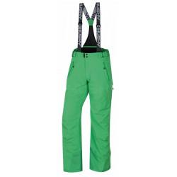 Husky Mithy M světle zelená pánské nepromokavé zimní lyžařské kalhoty Huskytech 20000
