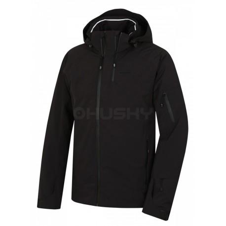 Husky Menau černá pánská nepromokavá zimní lyžařská bunda Huskytech Stretch 20000
