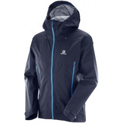 Salomon X Alp 3L JKT M night sky 397334 pánská nepromokavá bunda Pertex Shield+
