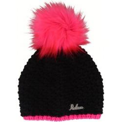Relax Punky RKH108B černá/růžová dámská pletená čepice