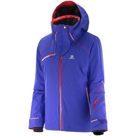 Salomon Speed Jkt W phloex violet 382439 dámská nepromokavá zimní lyžařská bunda