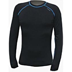 Jitex BoCo Ibak 981 TSS černá/modrá pánské triko dlouhý rukáv Merino vlna
