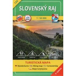 VKÚ 124 Slovenský raj 1:50 000 turistická mapa