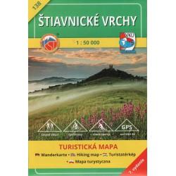 VKÚ 138 Štiavnické vrchy 1:50 000 turistická mapa