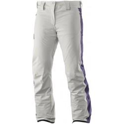Salomon Whitedream Pant W light grey 391097 dámské nepromokavé zimní lyžařské kalhoty