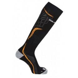 Salomon X Pro black/lava orange 392457 lyžařské podkolenky Dryarn