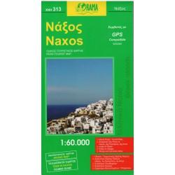 ORAMA 313 Naxos 1:60 000 turistická mapa
