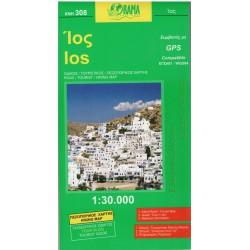 ORAMA 308 Ios 1:30 000 turistická mapa