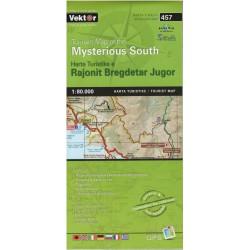 Vektor 457 Albánie Mysterious South 1:80 000 turistická mapa